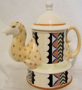 Carlton Ware Lustre Pottery Decorated Camel Teapot
